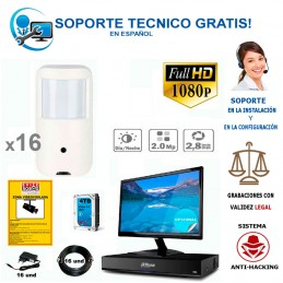 kit de 16 camaras ocultas full-hd