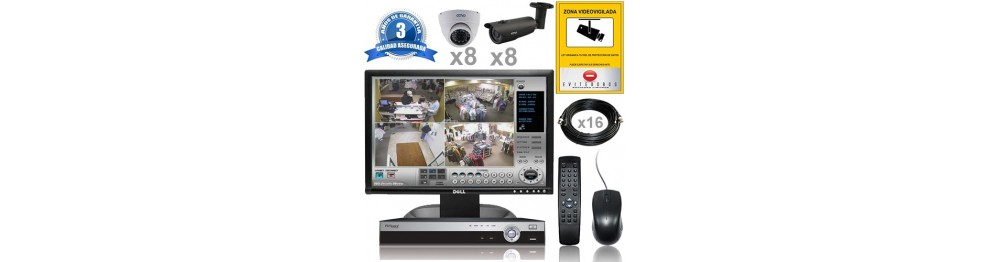 Kit Vigilancia ext-int  16 cam